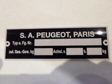 placa de identificación ID Peugeot 404 304 504 204 targa du constructor S23