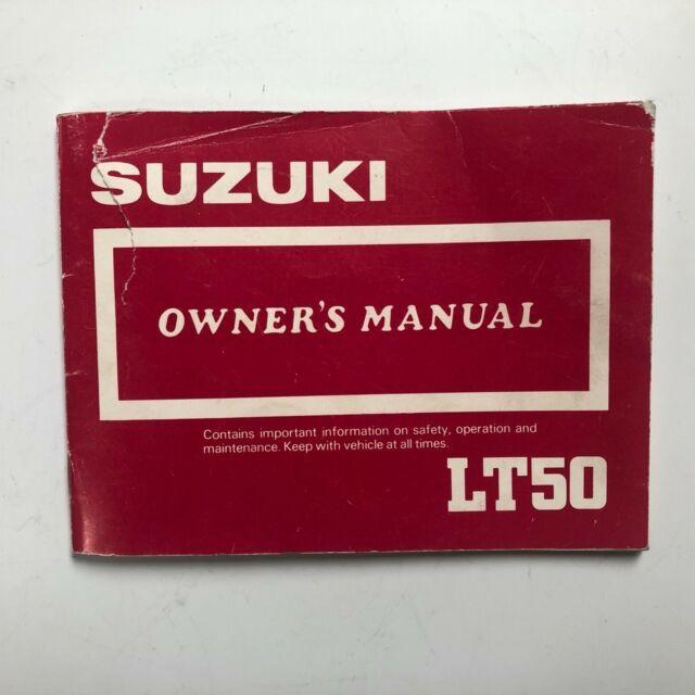 Suzuki Lt50 Owner U0026 39 S Manual Quadsport 50 1986 Maintenance