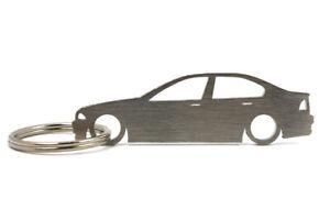 """Keyfob Keychain  /""""E46/"""" for BMW 320 323 325 330i M3 S54 stainless steel shiny"""