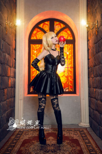 cos Specialty Death Note Misa Amane Imitation Leather Dress Cosplay