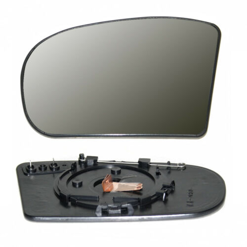 Mirror Glass Silver LHS Wide Angel Heated /& Base For Mercedes C class W203 00 03