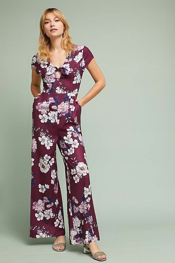Anthropologie Yumi Kim Floral Cutout Jumpsuit NWT new size S