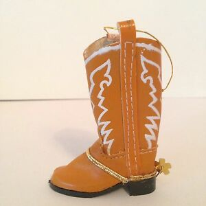Cowboy Boot Christmas Ornament Brown Western Cowgirl Spur ...