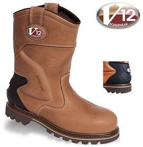 Rigger Tomahawk V1250 Toe V12 Safety Boots Steel Work Sz Cap Waterproof Mens q543ARjL