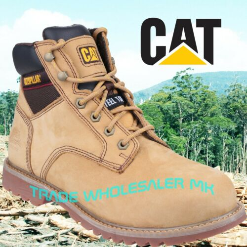 CATERPILLAR ELECTRIC HONEY STEEL TOE CAP SAFETY WORK BOOT size 6,7,8,9,10,11,12