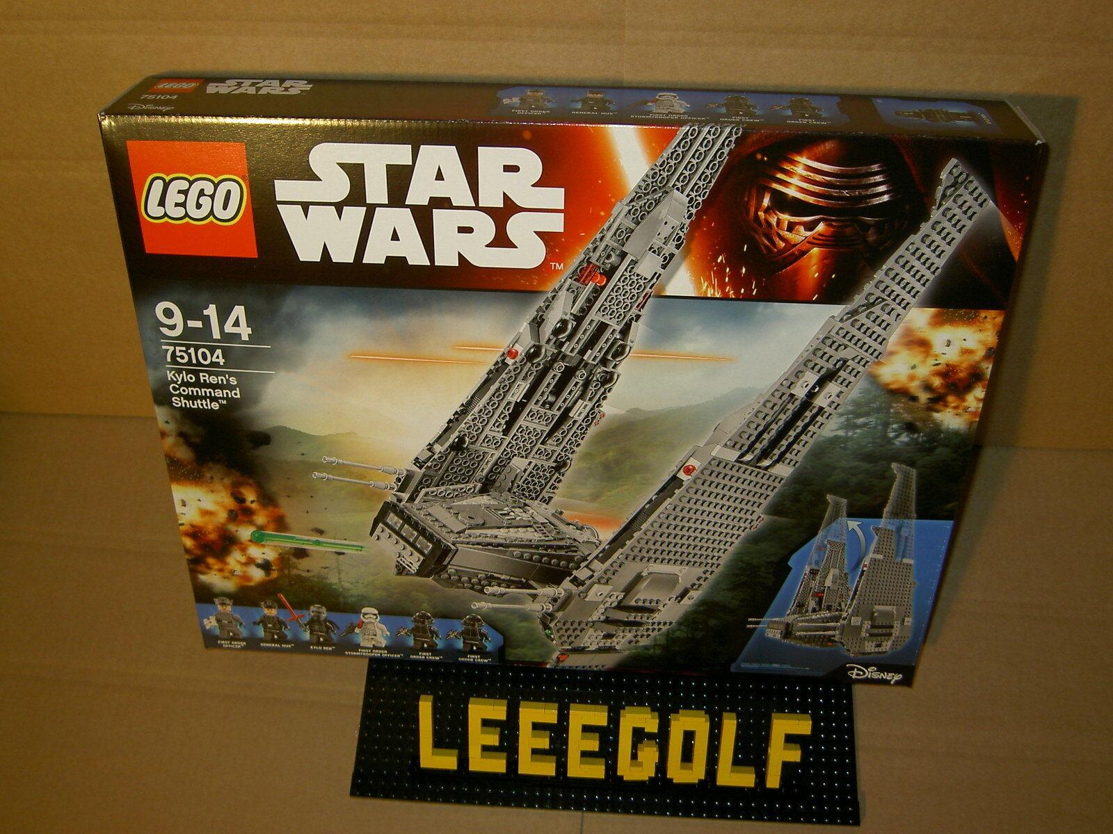 NEU + OVP Lego STARWARS 75104 Kylo Ren´s Command Shuttle mit General Hux ...