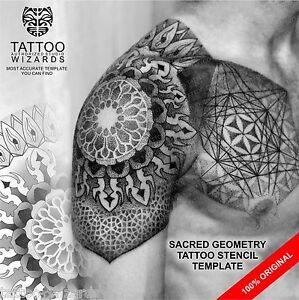 Image Is Loading Sacred Geometry STAR Of DAVID Tattoo Template