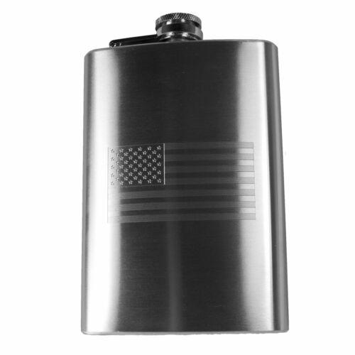 8oz USA Flag Hip Flask American Flag R1