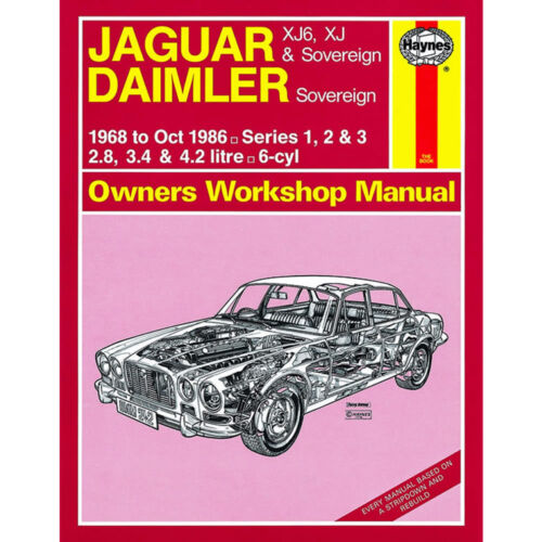Jaguar XJ6 XJ Sovereign 2.8 3.4 4.2 Petrol 1968-86 up to D Reg Haynes M 0242