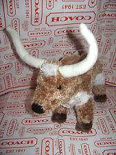 "Douglas Cuddle Toy T-BONE LONGHORN Steer Bull Cow Plush 8"" Plush Soft Lovely"
