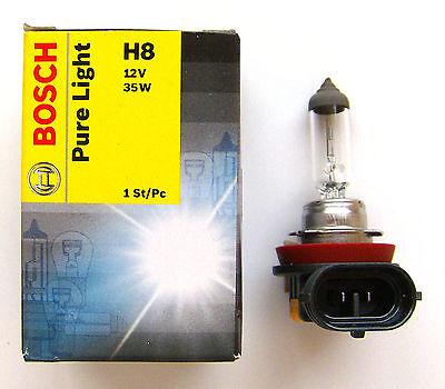Bosch Pure Light H8 Lampe 12V 12 Volt 35W 35 Watt E-Prüfzeichen PGJ19-1