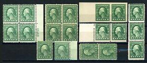 USAstamps-Unused-FVF-US-1-Cent-Washington-Lot-Scott-408-498-543-OG-MNH-amp-MH