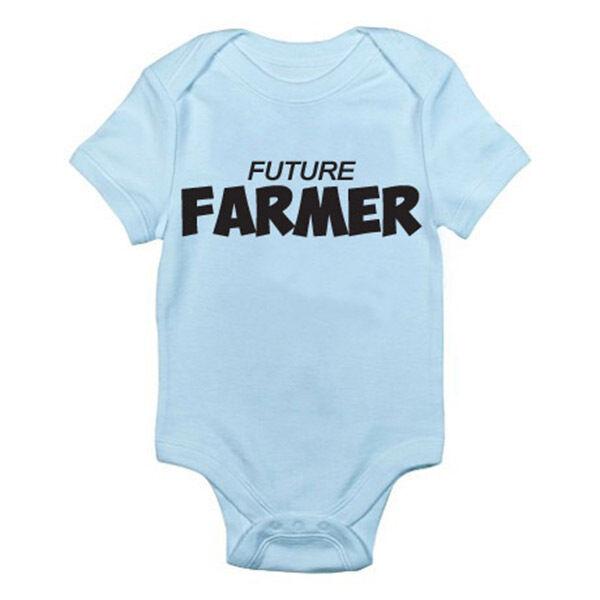 Agricultor Futuro Agrícola/agricultura/diversión/novedad Temática Bebé Crezca/mameluco
