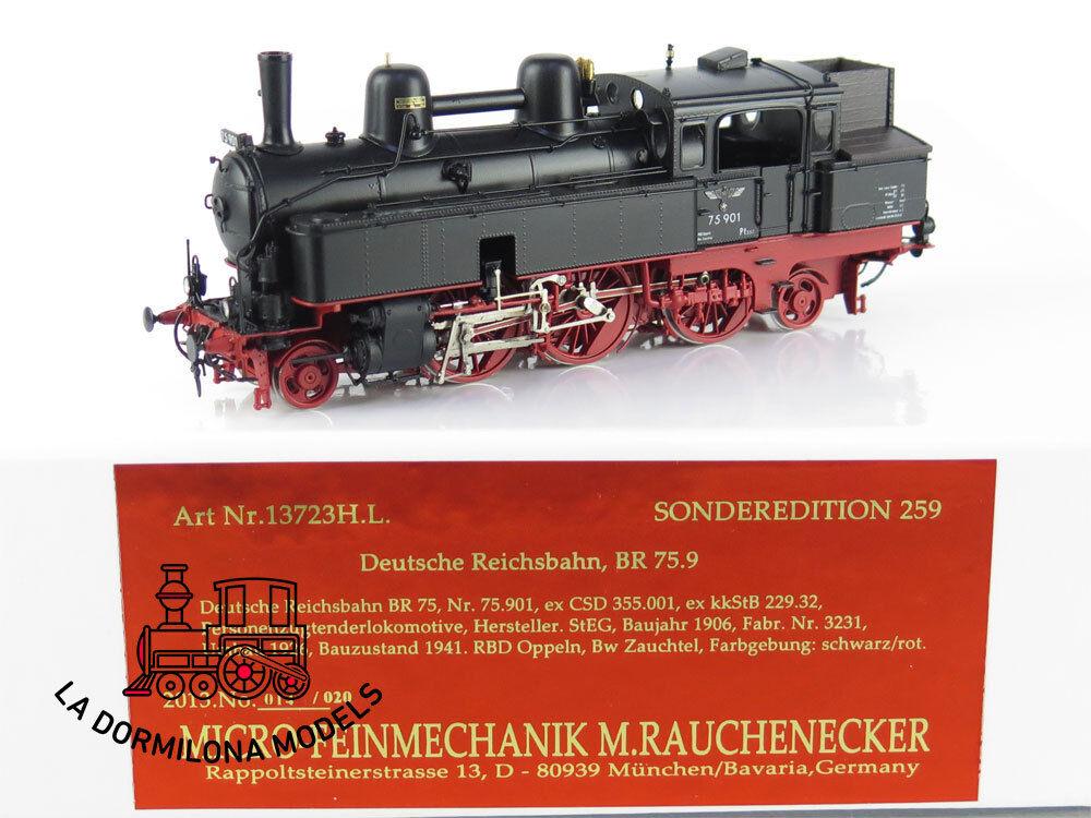 GL178 H0 BRASS - Micro-Feinmechanik 13723 H.L. Dampflok BR 75 der DR - OVP