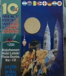 10th Men's Hockey World Cup Coin Card 2002