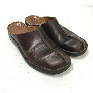 5340eb7be2708 Josef Seibel Women's 40 US 9 - 9.5 Brown Leather Split Toe Slip On ...
