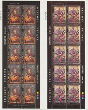 ALBANIEN ALBANIA - 1999 IKONEN VON ONUFRI ICONS 2712-13 KLEINBOGEN gestempelt