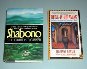 2book BEING DREAMING Castaneda SORCERER Mexico SHABONO Psychedelic Shaman Brazil