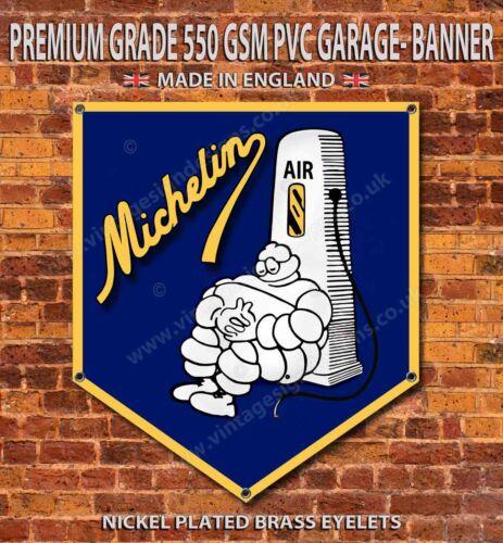 "MICHELIN TYRES WATER PROOF 550GSM GRADE PVC GARAGE BANNER 28/"" X 32/"""