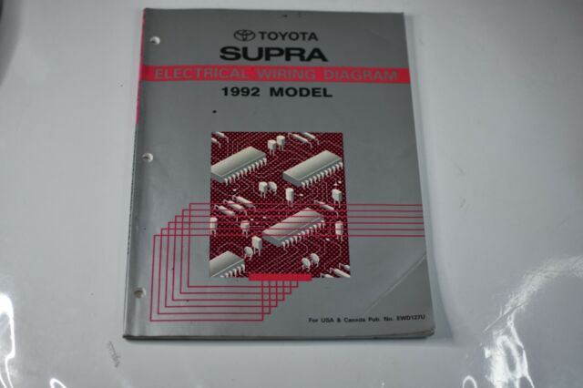 1992 Toyota Supra Electrical Wiring Diagram Repair Manual
