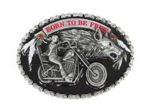Boucle-de-ceinture-style-chaine-motif-biker-moto-avec-tete-de-loup