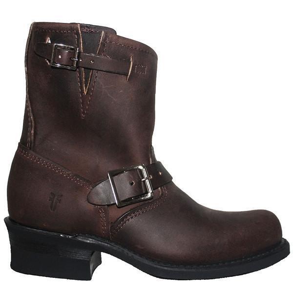 Frye Stiefel Engineer 8R - Gaucho Leather Pull-On Short Engineer Stiefel