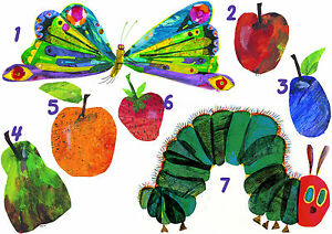 the hungry caterpillar sticker wall decal or iron on heat very hungry caterpillar wall decals very hungry