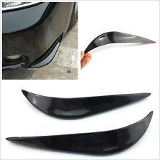 One Pair Black Soft Plastic Vehicle Bumper Anti-Collision Decorative Strip Decal