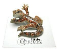 "Little Critterz Miniature Porcelain Animal Figure Bearded Dragon ""Pogona"" LC337"