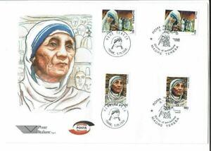 Francobolli-Madre-Teresa-FDC-primo-giorno-di-emissione-1998-Italia-Albania