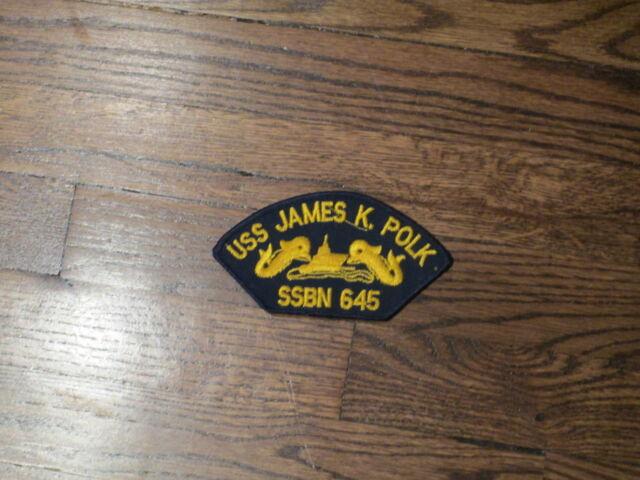 submarine patch,ssbn 645,  uss james k polk patch,new old stock.,set of 2