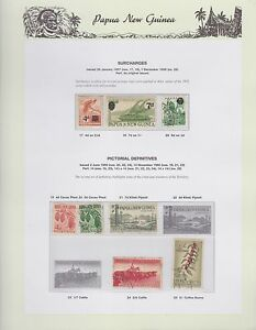 1957-1960-PNG-PAPUA-NEW-GUINEA-Surcharges-Pictorial-Definitives-STAMP-SET-K-401
