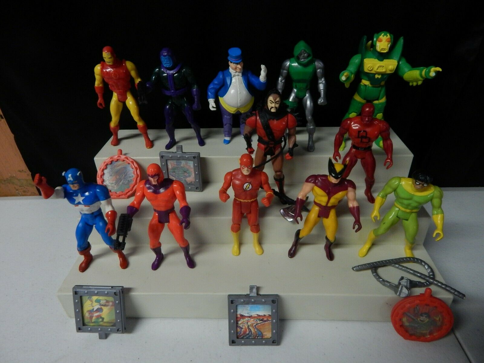 1984 1985 Vintage Marvel  DC KENNER SUPER HEROES Action Figure Collection lot 12  meilleur choix