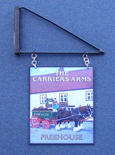 1:12 scala la portaerei ARMS PUB sign /& STAFFA Casa delle Bambole Accessorio in miniatura
