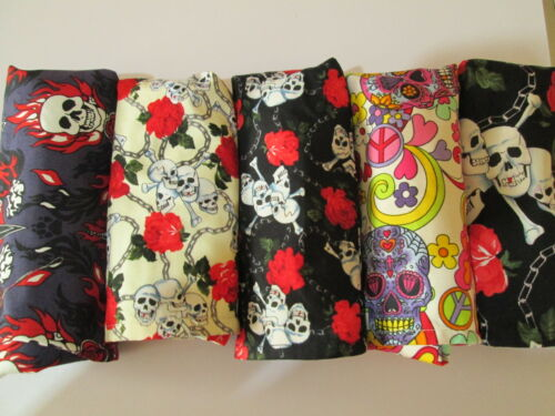 Skull Design Lovely Hand Crafted Fully Lined Shopping Bag with Pouch Holder