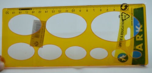 ELLIPSE ISOMETRIC  OVAL 4-42 AND CIRCLE 1-33 SHAPED STENCILS