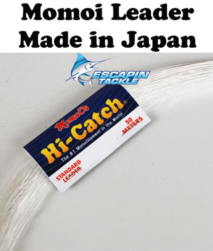Momoi HiCatch 150lb Monofilament Leader. 50m. Fishing Leader. Made in Japan