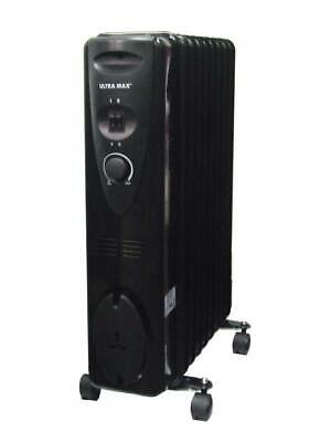Ultramax Oil-Filled 2kW 11 Fin Radiator HEATER COMFORTABLE HEAT AT ALL TIME