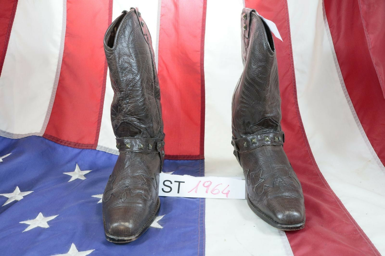 Boots ROSSI'S ( Cod. St1964) Used N.41 Mens Brown Leather Cowboy Country Cowboy