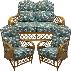 Replacement Cushions Covers For Cane Wicker Conservatory Furniture Piped Ebay