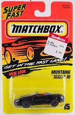 Matchbox MB 15 Mustang Mach III Black Thailand 1996 Mint On Card