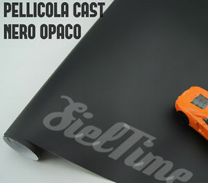 PELLICOLA-ADESIVA-NERO-OPACO-TERMOFORMABILE-BLACK-MATTE-CAR-WRAPPING-TUNING