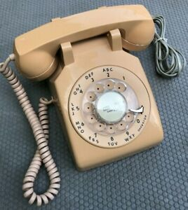 VINTAGE-ORIGINAL-BASIC-WESTERN-ELECTRIC-BELL-ROTARY-DIAL-PHONE-TELEPHONE-CORD