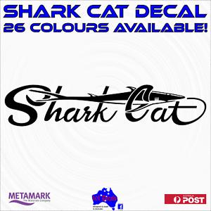 45cm SHARK CAT marine quality fishing boat catamaran decal stickers 26 colours!