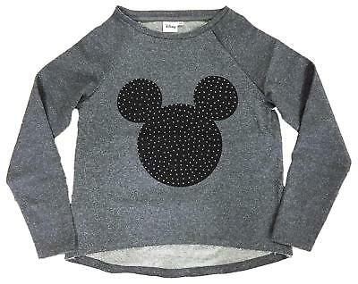 Girls Disney Mickey Minnie Mouse Glitter Sparkle Sweat Jumper Top 9 to 14 Years