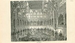 The-Stock-Exchange-La-Bourse-d-039-Anvers-Antwerpen-GRAVURE-ANTIQUE-OLD-PRINT-1880