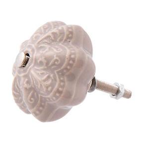 Mobilier Meubles Poignées Bouton Commodes Bouton Shabby * 4x3cm Céramique Sable Ornement-afficher Le Titre D'origine 100% D'Origine