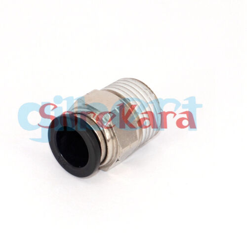 """1//8/"""" 1//4/"""" 3//8/"""" 1//2/"""" NPT Male Thread Pneumatic Connector Push In Straight for Air"""