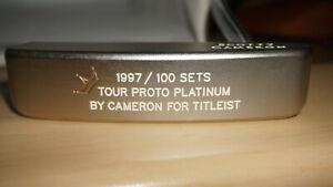 Cameron-neuf-1997-100-Set-Putter-Tour-Proto-Platinum-par-Cameron-Titleist