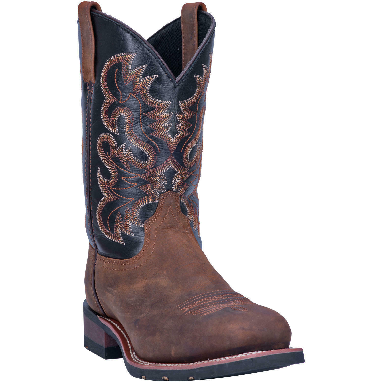 Laredo Men's Men's Men's Rockwell Distressed Brown & Black Square Toe Boots 69438 f184d3